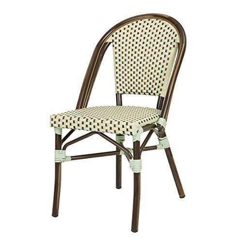 DÉSTOCKAGE: -32% Chaise bistrot TOM en polyrotin