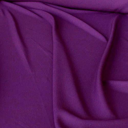 Modestoff / Dekostoff universal Stoff ALLROUND knitterarm - Meterware am Stück (Violett)