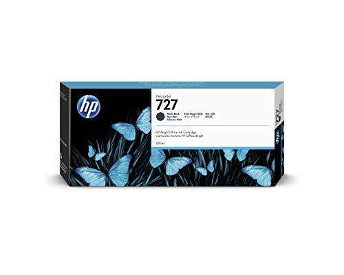 HP 727 Mattschwarz 300 ml Original HP DesignJet Druckerpatrone (C1Q12A), mit hoher Kapazität, HP Tinte für Großformatdrucker der Serien HP DesignJet T2500, T1500 & T900 sowie den HP 727 Druckkopf