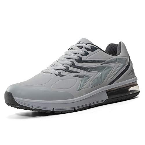 AX BOXING Herren Sportschuhe Laufschuhe Sneaker Atmungsaktiv Leichte Wanderschuhe Trainers Schuhe (45 EU, A9152-Grau)