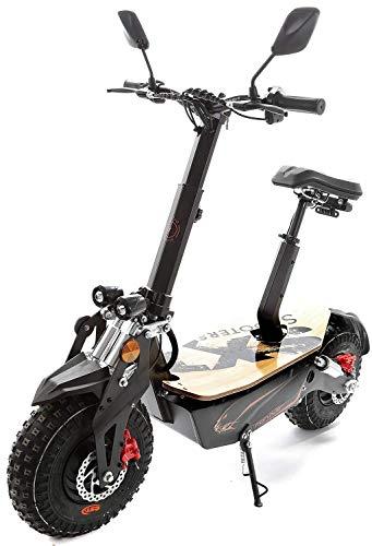 SXT Elektroroller Monster Offroadscooter mit XXL Ballonreifen Scooter Bleiakku