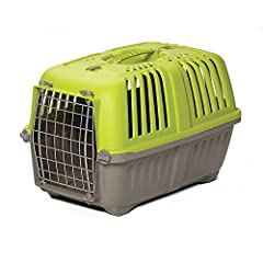 Hard Sided Pet Carrier | Spree is suitable for XS Breed dog carrier, cat carrier, small bird carrier & small animal carrier for quick trips to Vet, pet store, etc. Pet carrier interior dimensions: 20.70L x 13.22W x 14.09H Inches & doorway measures 8....