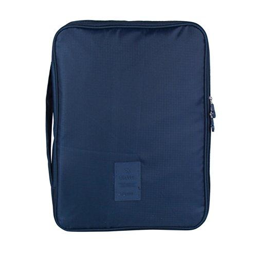 OUNONA Hemdentasche f¨¹r knitterfreie Hemden Krawatte T-Shirts und Blusen mit Falthilfe in Koffer Reisetasche Handgep?ck (Marineblau)
