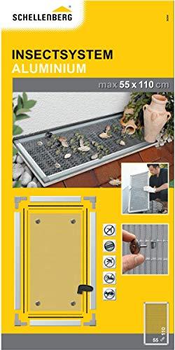 Schellenberg 50364 Lichtschachtabdeckung mit Alu-Rahmen Sauberer Lichtschacht – 55 x 110 cm