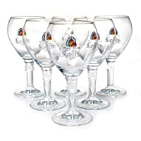 leffe set of 6 original glass 0.33cl