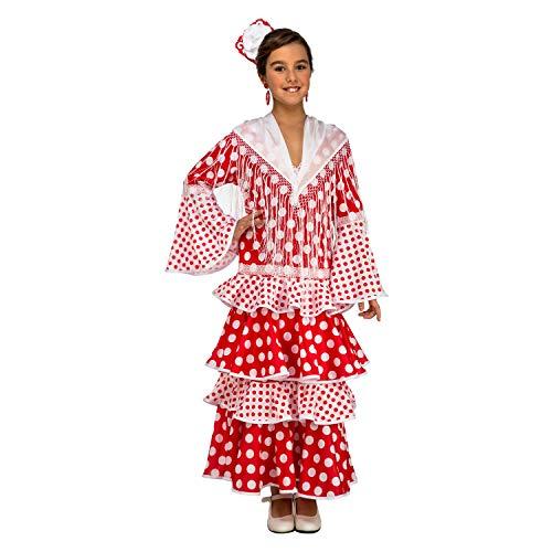 My Other Me Me-203858 Disfraz de flamenca Rocío para niña, color rojo, 5-6 años (Viving Costumes 203858)