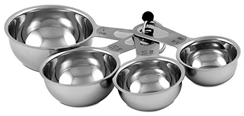 CIA Masters Collection Stainless Steel 4-Piece Measuring Cup Set