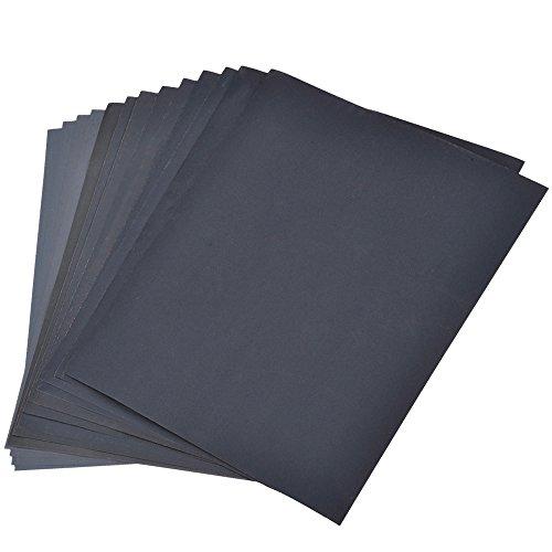 800-3000 Grit Schleifpapier Sortiment, Trocken / nass, für Automobil-Schleifen Holzmöbel, Veredelung, Drehen Fertigung Holz, 9 x 11 Zoll, 14 Stück