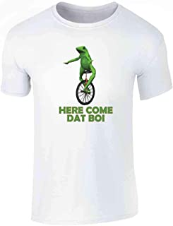 KssKsa Here Come Dat Boi Frog Youth//Kids Casual T-Shirt 3D Print Short Sleeve
