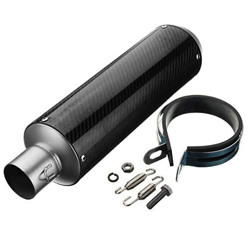 LICHONGUI Tubería de silenciador de Escape de 38 mm-51mm Resbalón de Fibra de Carbono en la Motocicleta