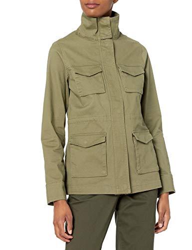 Amazon Essentials Utility Jacket Chaqueta, Verde Oliva Efecto Lavado, S