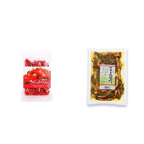 [2点セット] 収穫の朝 さくらんぼグラッセ ラム酒風味(180g)・こごみ笹竹(250g)