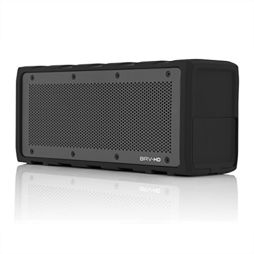BRAVEN BRV-HD Wireless Bluetooth Speaker [28 Hour Playtime][Water Resistant] Built-in 8800 mAh Power Bank Charger - Black