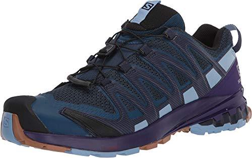 Salomon XA Pro 3D V8 Women's Trail Running / Hiking Shoe, Poseidon/Violet Indigo/Forever Blue, 10