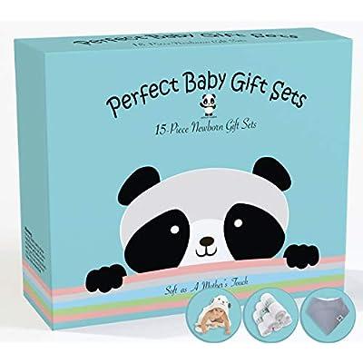 Amazon - Save 35%: Premium 15 Piece Baby Gift Box Set – Bamboo Baby Bath Towels, Washcloths,…