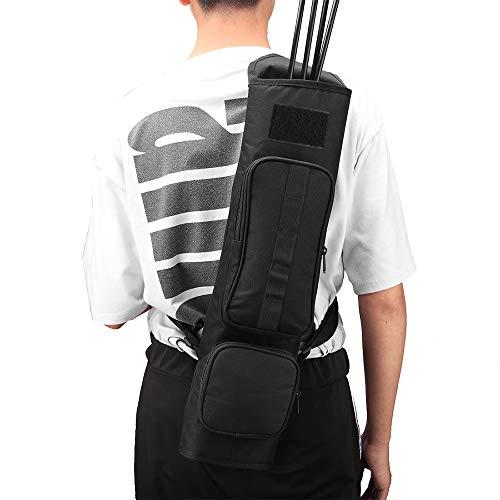 Magarrow Bogenschießköcher mit zwei Taschen für Jagd, Zielschießen, Schwarz