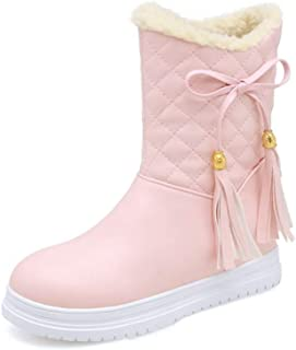 Rose town Woman's Girl's Inside Increased Comfort Platform Walking Ankle Boots