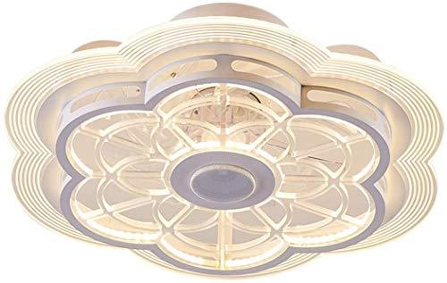Luz LED Ventilador Moderno Luz De Techo Ventilador De Techo Con Altavoz Bluetooth Con Iluminación Ventilador Lámpara De Techo Regulable Con Control Remoto Dormitorio Sala Estar Lámpara De Ventilador