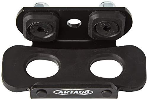 Artago K203 Soporte 32 para Estribera Desmontable Universal Moto, Negro