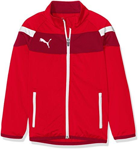 PUMA Kinder Jacke Spirit II Polyester Tricot Jacket red-White, 140