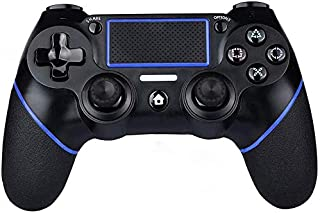 PS4 Controller Wireless Gamepad for PS4/PS4 Slim/PS4 pro/PC with USB Charge Cable with Dual Vibration, Clickable Touchpad,...