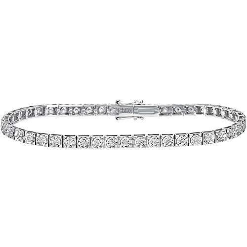 Tennis-armband van zilver met zirkonia en initiaal voor dames van Jack&Co.