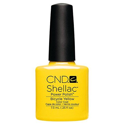 CND Shellac Esmalte de Uñas de Gel, Tono Bicycle Yellow