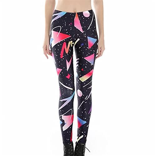 Pantalones Yoga Mujer Fitness Deportivo Pilates, Sky geométricas imprime entrenamiento de las polainas de las mujeres adelgazan los pantalones de yoga atractiva Scrunch la elevación del extremo Active