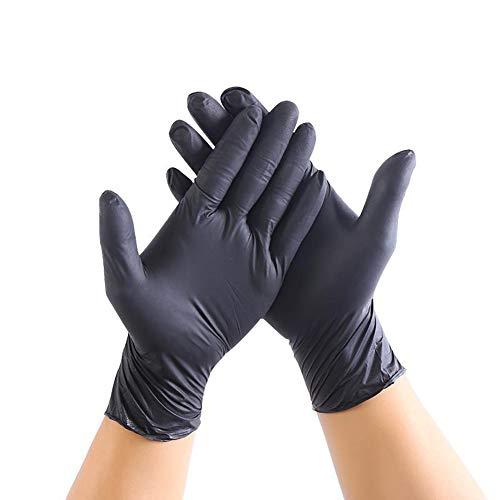 Wegwerp Poedervrije Nitril Handschoenen, Zwarte Latex Poedervrij Medisch Onderzoek Tatoeages Piercing, Schoonmaak Handschoenen Bescherming Gezondheid (100 Stuks),S
