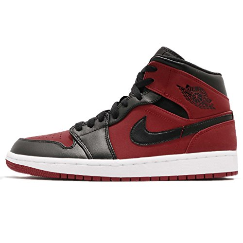Nike Air Jordan 1 Mid, Zapatos de Baloncesto para Hombre, Rojo (Gym Red/Black/White 610), 50.5 EU