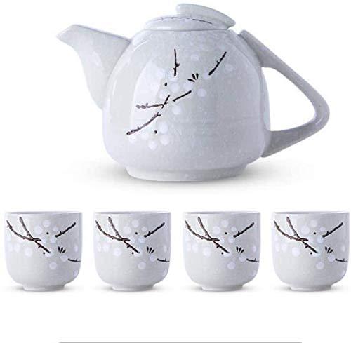 ZQADTU Tetera con colador Juego de té Taza de té Juego de té Taza de cerámica Tetera Tetera 5 Piezas