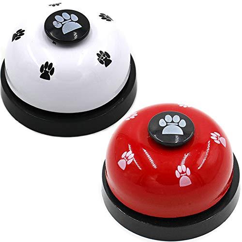 Limeow Pet Glocken Hund für Töpfchen Training Haustier Trainingsglocke Welpen Glocken Klingel für Hunde zum Trainieren Ihrer Haustiere um sie auf Töpfchentraining oder Kommunikationsanfragen 2 Stück