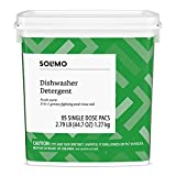 Amazon Brand - Solimo Dishwasher Detergent Pacs, Fresh Scent, 85...