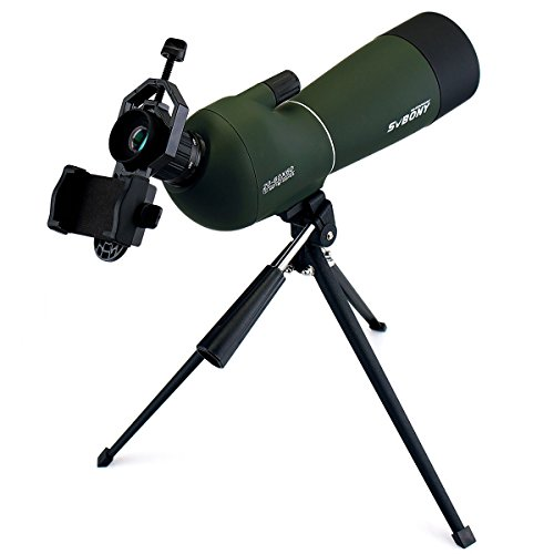 SVBONY SV28 Spotting Scopes with Tripod for Birding 20-60x60mm Angled Range Scope IP65 Waterproof with Phone Adapter for Hunting,Travel,Camping,Wildlife Viewing,Stargazing,Soft Case