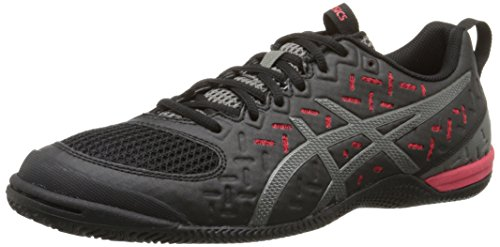 ASICS Men's Gel-Fortius TR 2 Training Shoe, Black/Gunmetal/Fiery Red, 7.5 M US