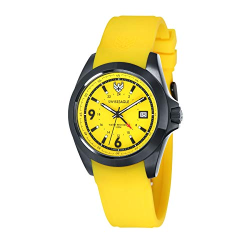 SWISS EAGLE SE-9066-03 - Reloj para Hombres, Correa de Silicona