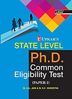 State Level Ph.D. Common Eligibility Test: Paper-I