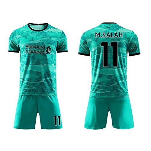 WASX Champion Football Jersey # 11 Salah Jersey Sportswear Soccer Jersey Shorts Suit Adult/Child Kits,S