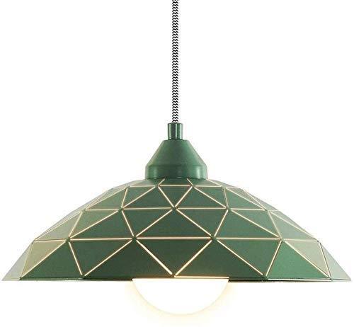 Nordic metal moderno de un único cabezal de la lámpara del restaurante minimalista moderna Sala de alumbrado de suspensión de luz lámpara de hierro creativo cenas ligeras Salón Dormitorio de techo E,