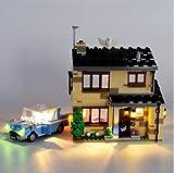 EDCAA Kit de iluminación LED para Harry Potter 4 Privet Drive House Set con Ford Anglia, Dobby Figure y Dursley Family Set compatible con Lego 75968 (no incluido)