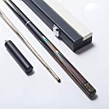 HUAM 3/4 Snooker Billiard Cue Sticks, Accessories Snooker Wood Three-Quarter Two-Piece Cue Handmade Snooker Cue Set
