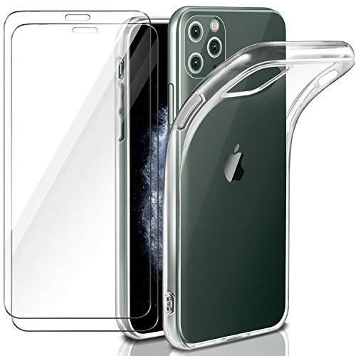 Leathlux Funda iPhone 11 Pro 2019 + 2 x Protector de Pantalla...