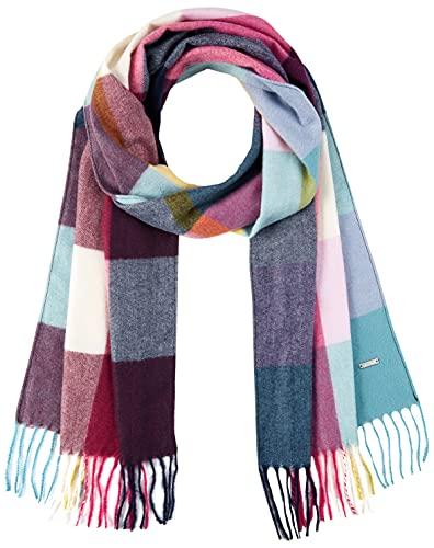 Joules Damen Bracken Check Woven Scarf Schal mit warmem Griff, Cremefarben, kariert, One Size