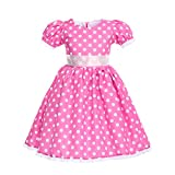 Mouse Polka Dots Dress Up Cosplay Birthday Costume Baby Toddler Girl Tutu Dress Princess Pageant Halloween Evening Dance Maxi Gown Z# Pink 2-3 Years