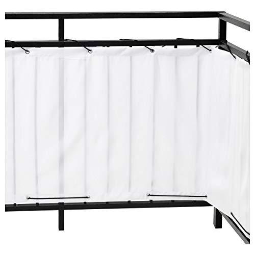 IKEA DYNING Balkon Sichtschutz weiß