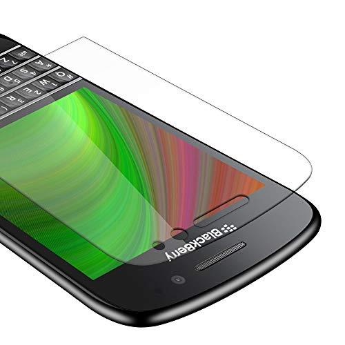 Cadorabo Panzer Folie für BlackBerry Q10 - Schutzfolie in KRISTALL KLAR – Gehärtetes (Tempered) Bildschirm-Schutzglas in 9H Festigkeit mit 3D Touch Kompatibilität