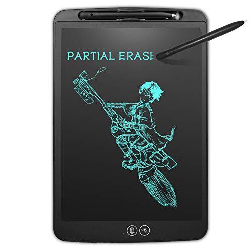 NEWYES Partiellement effaçable Tablette d'Ecriture LCD - 8,5 Pouces Planche à Dessin avec Bouton de Verrouillage Fonction d'effacement partiel pour la Famille Kids Office(Noir)