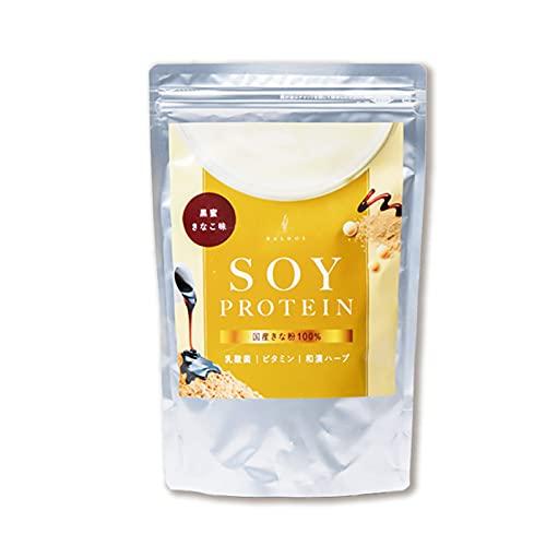 BALDOL バルドル ソイプロテイン 黒蜜きなこ味 500g 国産きなこ 漢方パウダー配合 ビタミン 乳酸菌