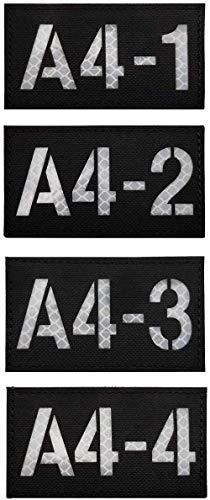 Infrarot-Rufzeichen-Aufnäher, reflektierend, personalisierbar, taktisch, militärisch, taktisch, Moral, Patches, Armband, Abzeichen für Kleidung, Zubehör, Rucksack, A4-1, A4-2, A4-3, A4-4