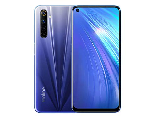 realme 6 4GB + 64GB Smartphone, 64MP AI Camera, 90cm Ultra-Smooth 16.5Hz Display, Helio G90T Processor, Blue (Comet Blue)